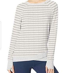Danskin Women's Criss Cross Tunic Shirt  Cream
